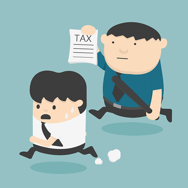 evasion tax Cartoons concepts Illustration vector eps10